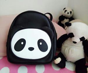 backpack, panda, and cute image