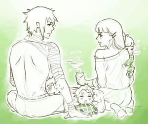 sasuhina, family, and hinata image