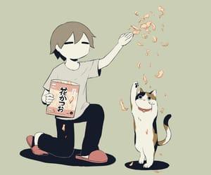 cat, art, and illustration image