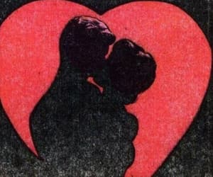 love, heart, and kiss image