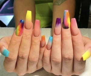 nails, colorful, and style image