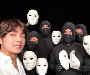 v, bts, and taetae image