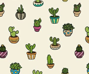 cactus, wallpaper, and pattern image