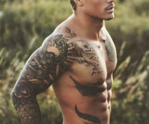 tattoo, Hot, and handsome image