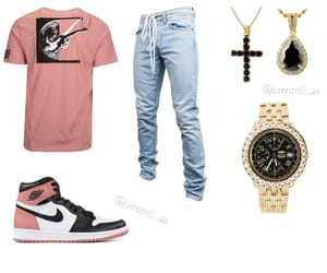 cross, off-white, and gold image