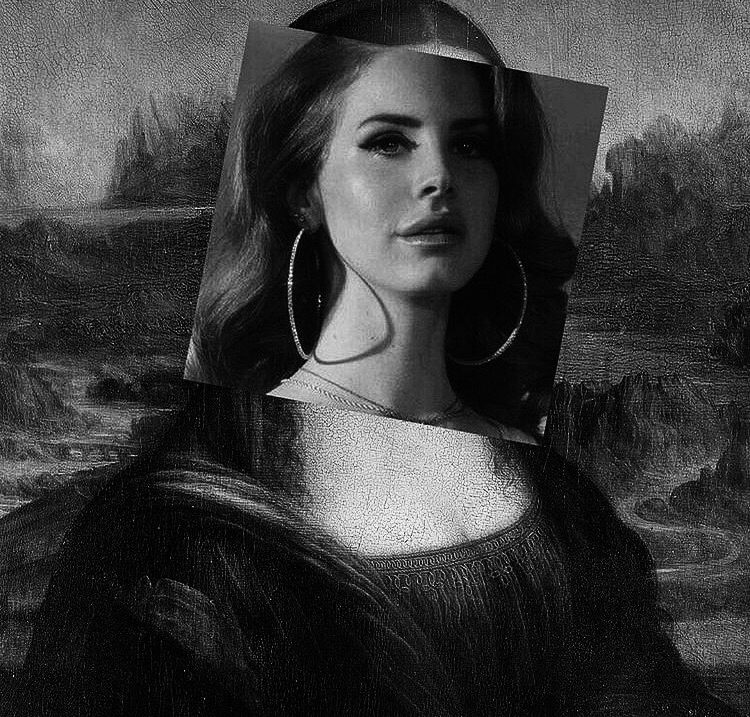 art, mona lisa, and lana del rey image