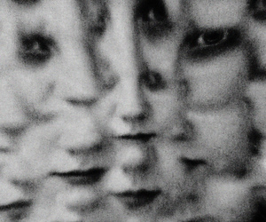 black and white, girl, and face image