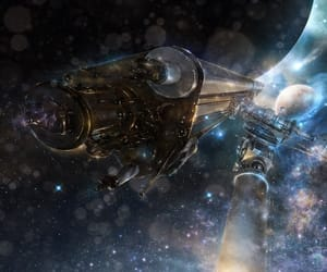 art, planets, and spaceships image