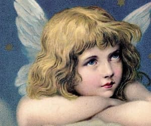 angel, angelic, and vintage image