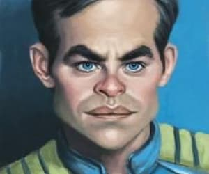 art, captain kirk, and scifi image