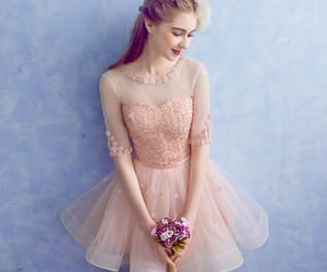girl, lace, and party dress image