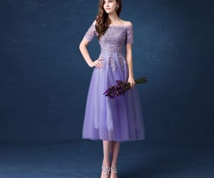 girl, tulle, and off the shoulder dress image