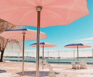 beach, need, and pink image