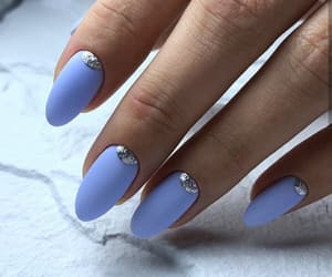 blue, manicure, and design image