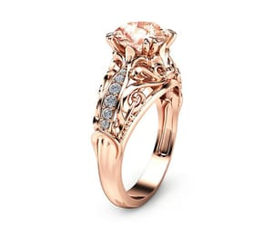 diamond ring, etsy, and goldring image