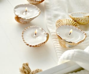 candles, shells, and summer image