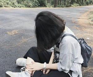 girl, short hair, and hair image