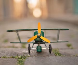 airplane, miniature, and photography image