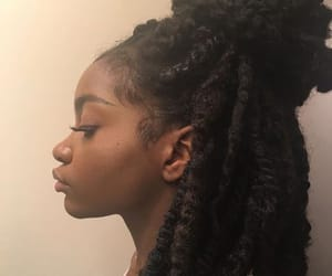 locks, women, and makeup image