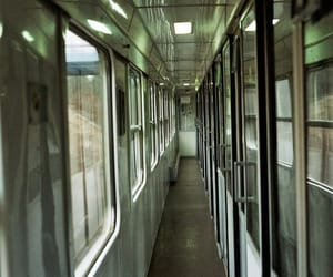 corridor, railway, and doors image