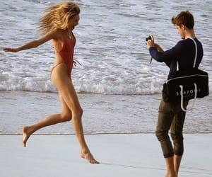 beach, model, and cute image