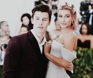 hailey baldwin, shawn mendes, and met gala image