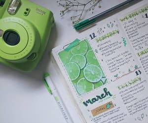 green, journaling, and lime image