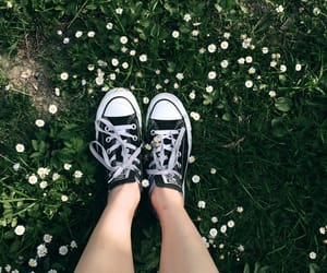 converse, girl, and happy image