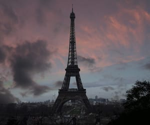 dawn, paris, and eifel tower image