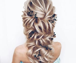 hairstyle, girl, and beauty image