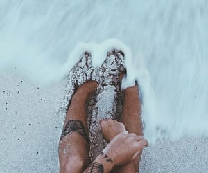beach, summer, and tattoo image