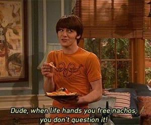 drake and josh, nachos, and funny image