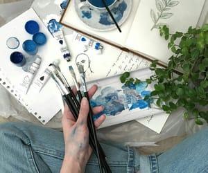 art, beautiful, and blue image