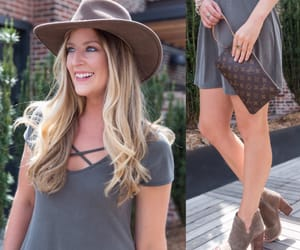 blonde, booties, and fashion blog image