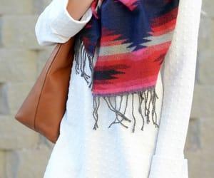 fashionista, white dress, and winter fashion image