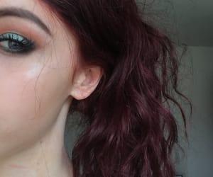 eye makeup, makeup, and red hair image