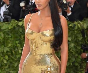 kim kardashian, fashion, and met gala 2018 image