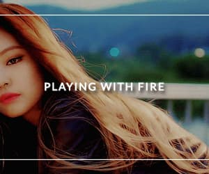 gif, kim jennie, and playing with fire image