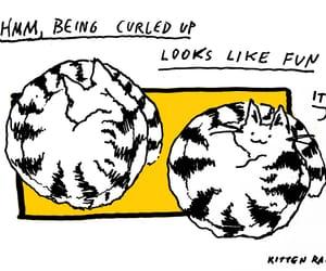 art, illustration, and cat image