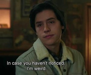 riverdale, weird, and cole sprouse image