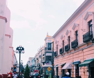pink, pink building, and pinkobsession image