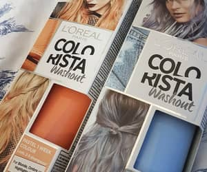 blue, colourful, and hair image