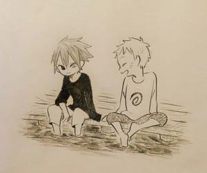 anime, childhood, and drawing image