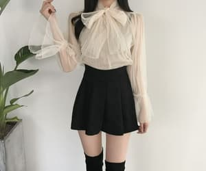 asian girl, chic, and skirt image