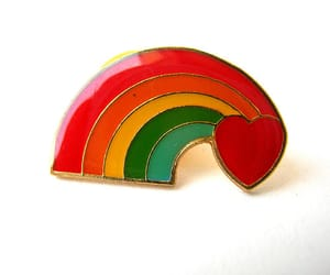 etsy, gay pride, and lapel pin image