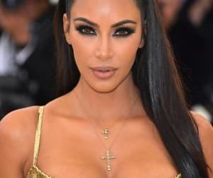 kim kardashian, met gala, and makeup image