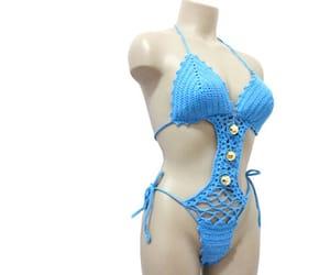 etsy, crochet beachwear, and sexy crochet bikini image