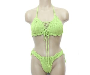 etsy, sexy bikini, and crochet swimsuit image