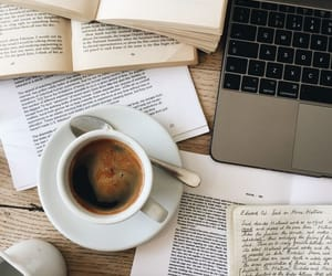 coffee, books, and study image