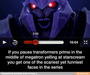 funny, megatron, and tfp image